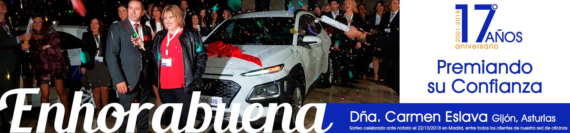 Banner entrega premio coche Hyundai Reines Grupo Inmobiliario