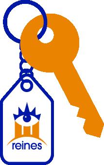 Llavero de Reines con llave