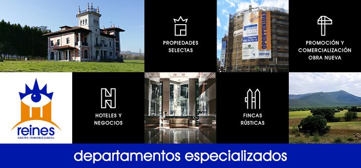 DEPARTAMENTOS ESPECIALIZADOS DE REINES GRUPO INMOBILIARIO