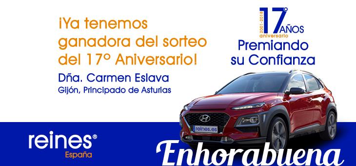¡ENHORABUENA A LA GANADORA DE LA PROMOCIÓN DEL 17º ANIVERSARIO!